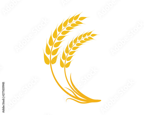 Valokuvatapetti Agriculture wheat Logo Template vector icon