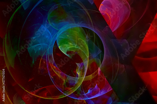 Foto auf Leinwand Fractal Wellen abstract digital fractal fantasy design chaos