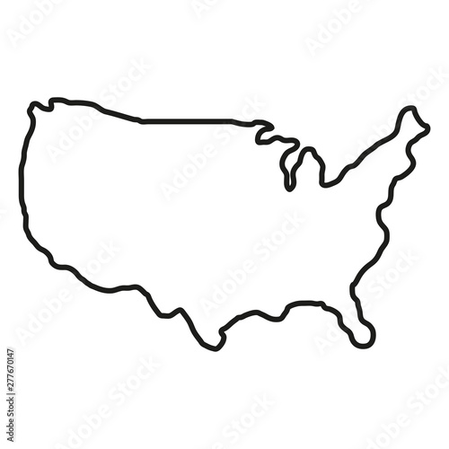 States of America territory on white background. North America. Vector illustration Wall mural