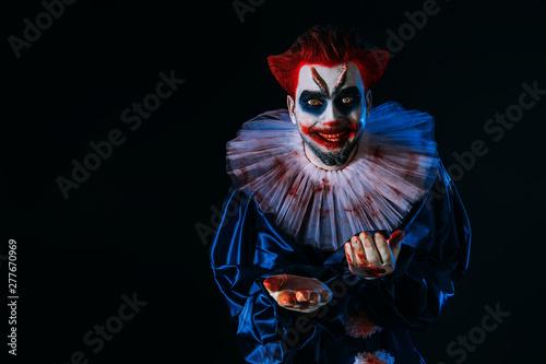 Ingelijste posters Halloween angry joker man