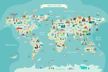 Landmarks World Map Vector Car...