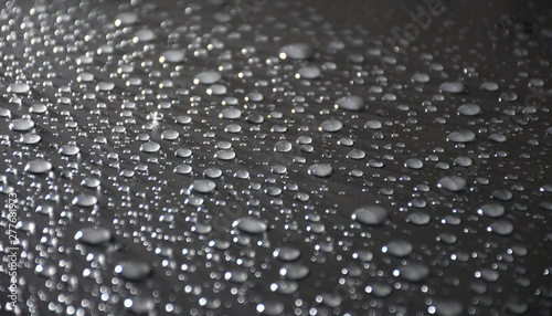 Close Up Water Drops On Metal Surface Can Be Used For Web