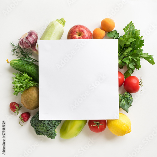 Poster Cuisine Organic Food Background