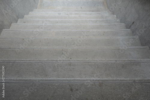 Spoed Foto op Canvas Trappen Up and down stairs with handrails for balancing while climbing the stairs Safety building design concept