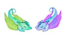 Two Little Sleepy Dragons. Han...