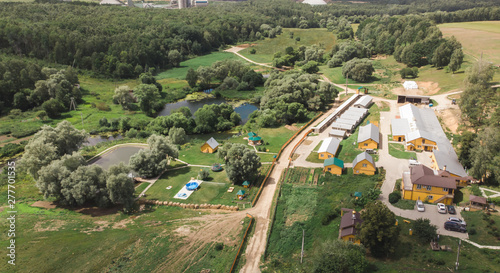 Photo Farm from drone view aero photography