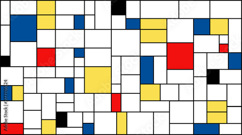 Photo  Neoplasticism (Piet Mondrian) imitation pattern