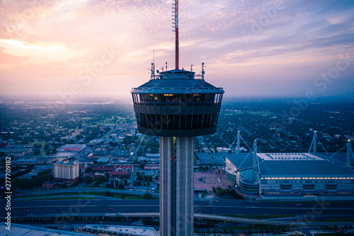 Wall Murals Texas Aerial Landscape of San Antonio Texas