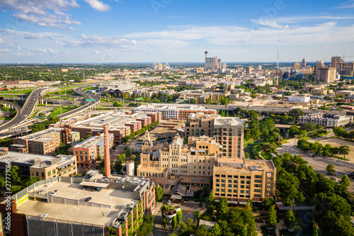 Wall Murals Texas Aerial of Pearl District San Antonio Texas
