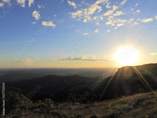 Sunset view of Chapada dos Guimarães, Mato Grosso, Brazil Canvas Print