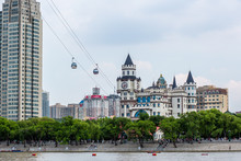 China Harbin Cityscape View From River