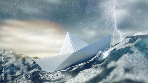 Fotografie, Obraz Risiko und Gefahr bei Unwetter und Sturm