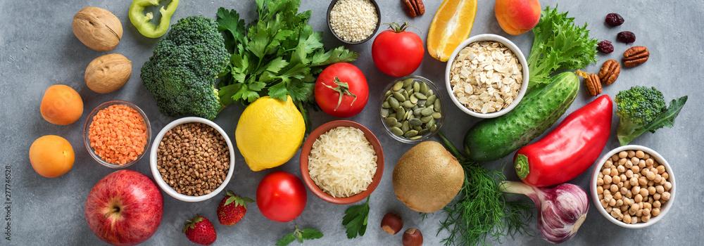 Fototapety, obrazy: Healthy vegan food