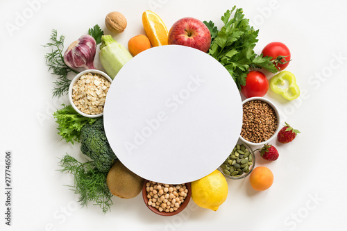 Cadres-photo bureau Cuisine Organic Food Background