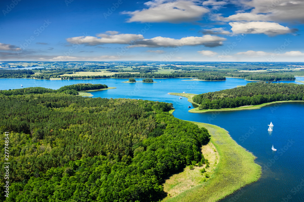 Fototapety, obrazy: Masuria-the land of a thousand lakes in north-eastern Poland