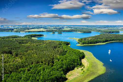 Fototapeta Masuria-the land of a thousand lakes in north-eastern Poland obraz