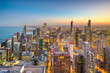 Leinwandbild Motiv Chicago, Illinois USA aerial skyline