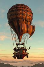 Hot Air Balloon Foloating Away