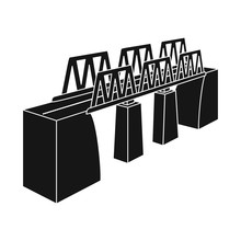 Vector Design Of Bridge And Modern Logo. Set Of Bridge And Railroad Stock Symbol For Web.