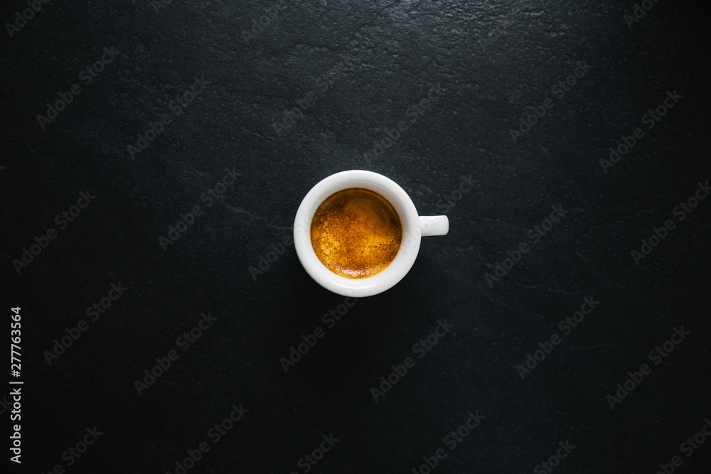 Fototapety, obrazy: Cup of fresh made coffee served in cup