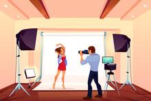 Studio Photo Shoot With Model ...