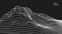 Digital Surface Made Of Lines....