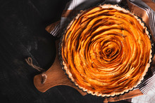 Sweet Potato Flower Tart In Ru...
