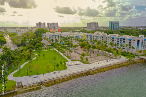 Albert Pallot Park Miami at sunset Wallpaper Mural