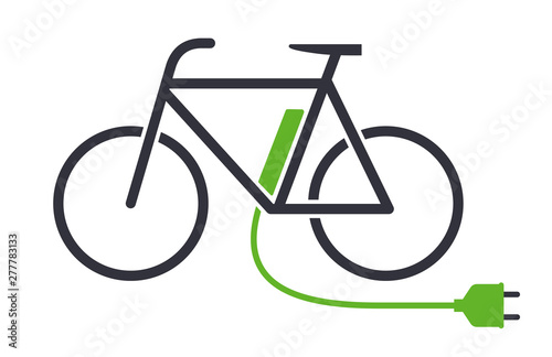 Electric bike icon bicycle charging station vector symbol Fotobehang