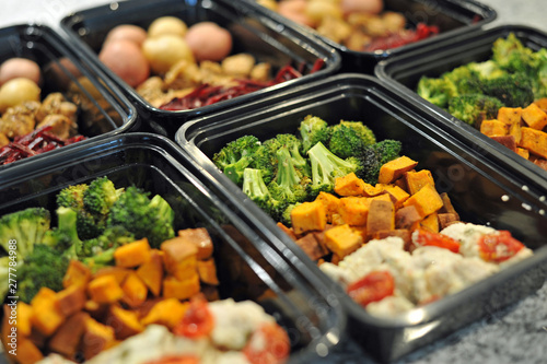 Healthy Meal Prep Containers Wallpaper Mural