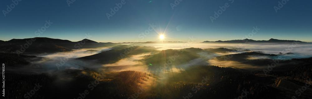 Fototapeta Carpathian mountain sunny landscape