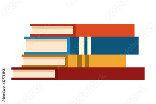 Education books piled up Canvas-taulu