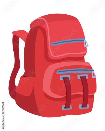 Fototapeta School backpack education cartoon isolated obraz