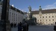 View of Kaiser Franz l statue in Lowelstrasse, Vienna, Austria, Europe
