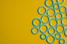 From Above Bright Blue Rings O...
