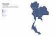 graphic vector map of asia countries