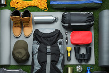 Flat Lay Composition With Diff...