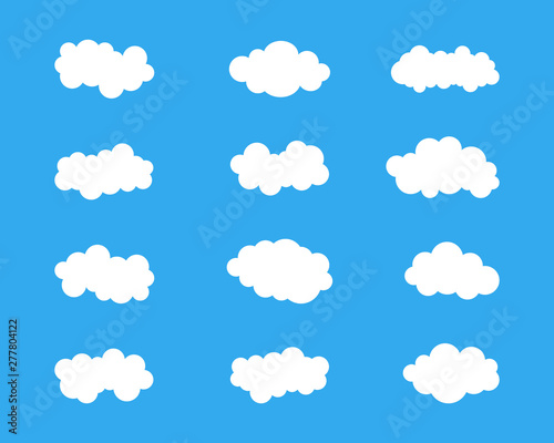 Foto op Plexiglas Hemel Blue sky with cloud icon illustration