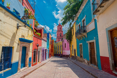 Canvas Prints Narrow alley guanajuato mexico, callejon
