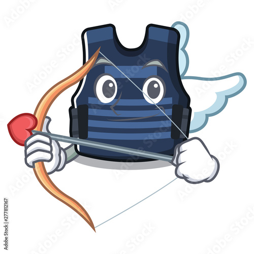 Cupid bulletprof vest isolated in the mascot - Buy this stock vector