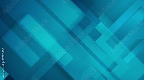 Fotografía  Abstract dark blue technology geometric background
