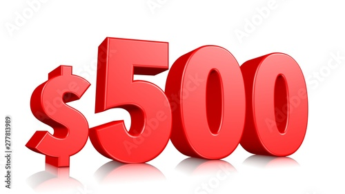 Fotografia  500$ Five hundred price symbol