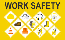 Work Safety Vector Icons Set, ...