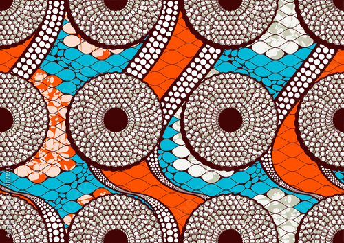 african fashion seamless pattern, vector illustration file. Canvas Print