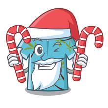Santa With Candy Hawaiian Cart...