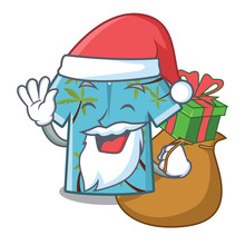 Santa With Gift Hawaiian Carto...