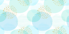 Abstract Geometric Seamless Pattern With Circles. Modern Abstract Design