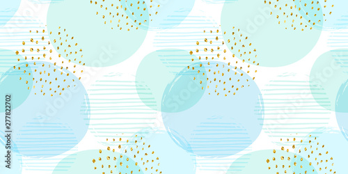 obraz lub plakat Abstract geometric seamless pattern with circles. Modern abstract design