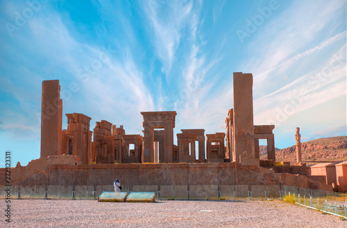 Ruins of the ancient Persian capital city of Persepolis - Shiraz, Iran Canvas Print