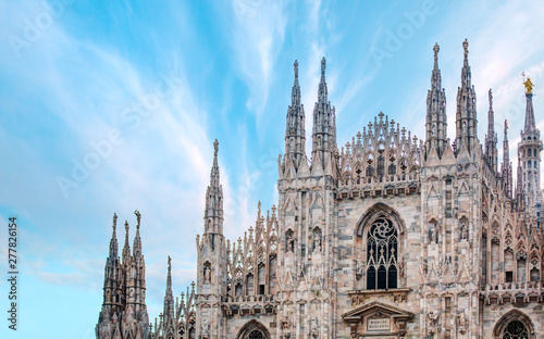 Milan Cathedral - (Duomo di Milano (Milan Cathedral) and Piazza del Duomo in Mil Canvas Print